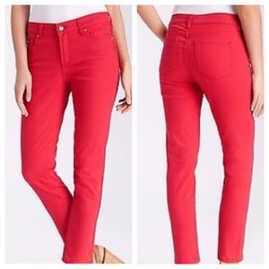 NYDJ Ankle Red Jeans Size 10 With Lift Tuck Tech